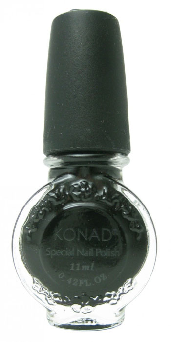 Лак для стемпинга Konad Black (S25) 11 мл